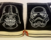 Custom Converse Star Wars Darth Vader Stormtrooper Handpainted Shoes Cons All Star