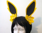 Jolteon Ears Flower Headband / Pokemon Cosplay Costume / Gijinka