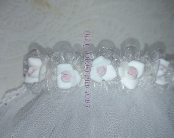 First Communion Veil, White, One of a Kind (1)