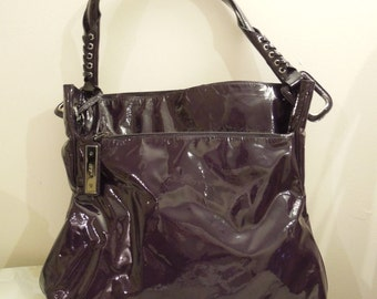 "Vintage ""Roger Vivier Purple Patent Leather Bag"