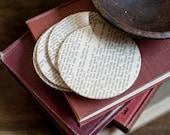 To Kill A Mockingbird Coasters, Atticus Finch, Book Lover Housewarming Gift, Harper Lee Literary Home Decor