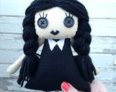 Wednesday Addams doll (inspired) - Coraline and Tim Burton style