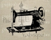 Antique sewing machine Mannequin Instant digital download image transfer for Decoupage Paper Iron on fabric burlap pillow tote No. gt212
