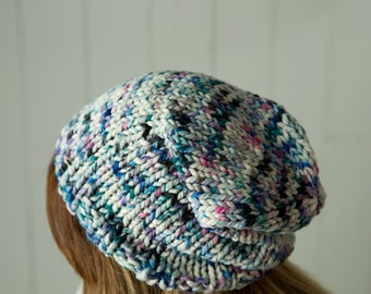 slouchy slouch beanie hat women's size adult galaxy colors