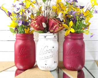Rustic Mason Jar Centerpiece Wedding Table Centerpieces