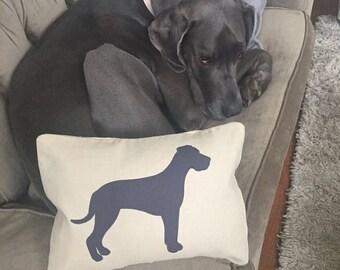 Great Dane Appliqué Pillow Cover - Luxe Linen