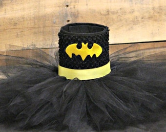 Batman Tutu Halloween Costume! Perfect for Birthdays, Photos, Pageants, & Dress-Up! Children and Adult Sizes Available!