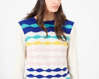 Ondina Hat - Fall Winter Fashion - Women - Art Pattern - Pattern Knit Hat - Multicolor Hat