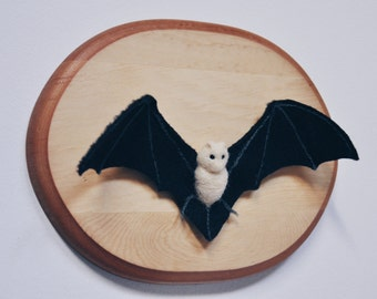 Felted Bat - Faux Taxidermy Needle Felted Wool