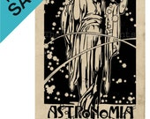 "ON SALE Large Print Poster Vintage Style Popular Astronomy ""Astronomia Popular"""