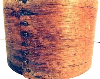 Bentwood Dry Measure 4 QT Antique Primitive Farmhouse Measure