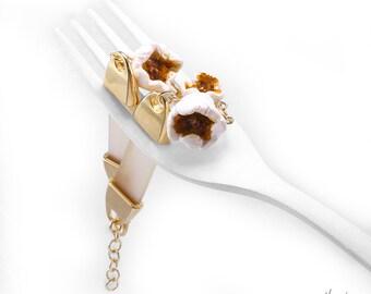 Popcorn Bracelet, Food Jewelry,  Popcorn Jewelry, Scented Bracelet, Polymer Clay Food, Foodie gift,Snack Jewelry,Teenager Gift,Food Bracelet