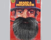 Vintage  Ben Cooper  Costume Beard and Moustache / Mustache Halloween Costume