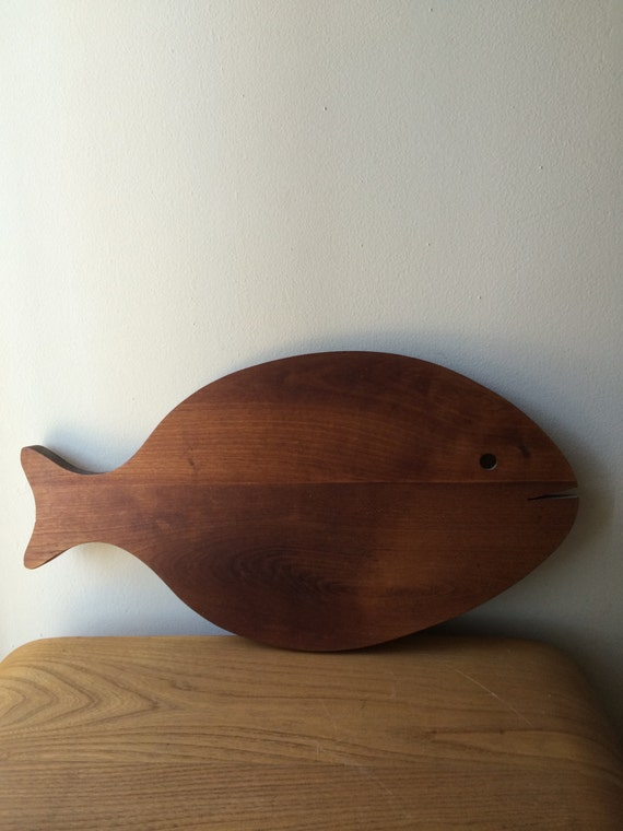 Large fish wood cutting board for Fish cutting board