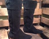 25% OFF // Size 6 Black Suede Knee High Boots