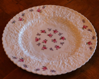 """Spode Bone China """"Forget Me Not"""" Pattern Y2999 Embossed Salad Plate"""