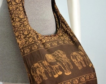 Elephant Bag Hippie Hobo Bag Sling Crossbody Bag Boho Bag