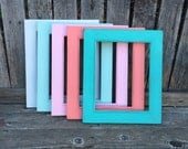 Ornate Picture Frame,8x10,Spring Colors,Shabby Chic, Distressed with Glass,Wedding Frame, Nursery,Coral, Turquoise JA788 (Los Angeles)