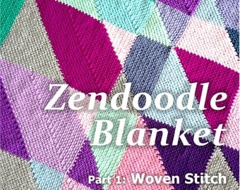 BabyLove Brand NEW Zendoodle Blanket Pattern ebook - Crochet Pattern - square or rectangle throw