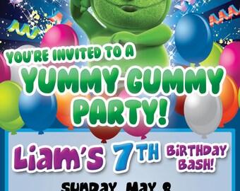 Gummibär (The Gummy Bear)  CUSTOM Printable Birthday Invitations- Digital File - The Gummy Bear Character