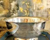 Vintage Silver Plated Trophy Signed Engraved Bowl / 1976 President's Trophy