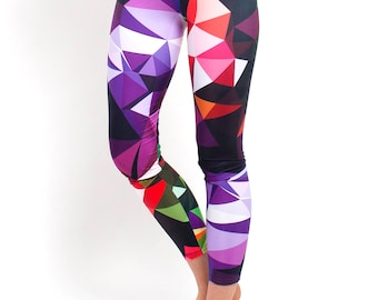 Yoga Leggings - Modern Print Leggings - Geometric Design Leggings - Yoga Leggings - Patterned Leggings - Print Leggings - Womens Leggings