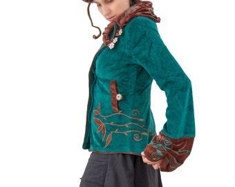 Game of Thrones -  Japanese Velvet Jacket with lining  -Boho Jacket - Festival - Hippy Women