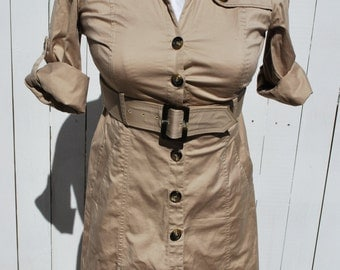 Safari Style Trench- Coat Dress