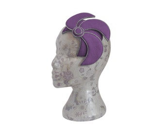 Ammethyst & Silver Fascinator - Zip and Felt