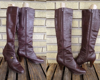 Size 9 Vintage Cobbies Cordovan Brown Leather Boots