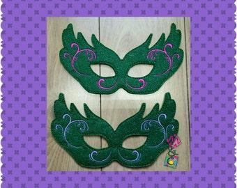 Mardi Gras Mask - Felt Mask -  Mascaraed Ball Mask - Kids Dress Up - Pretend Play - Party Favors - Felt
