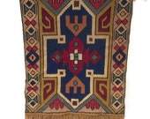 Vintage Hand Woven Tribal Tapestry Wall Hanging Turkish Moroccan Style Wall Art Bohemian Home Decor Native Southwestern Rustic Decor