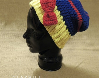 Crochet Snow White Inspired Slouchy Hat - Hipster Snow White - Disney Hat - Gifts Under 25