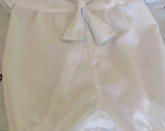 Sailor style boys christening, baptism, blessing outfit