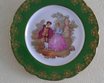 Vintage Fragonard Limoges Lazeyras Decorative Plate Homewares La Reine