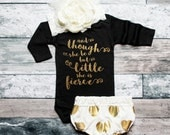 Baby Girl Clothes Baby Christmas Gift She Is Fierce Shirt Baby Shower Gift Bodysuit Baby Girl Shirt New Baby Gift #69