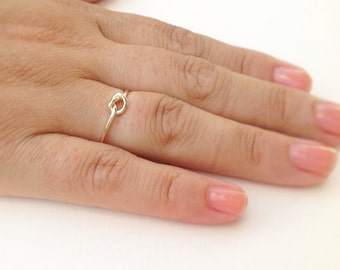 Knot ring, gold ring, knot knuckle ring, above knuckle ring, knuckle ring, friendship ring - 1003