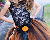 Monarch Butterfly Tutu With Wings and Matching Butterfly Wand