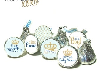 LITTLE PRINCE theme stickers ~ It's a Boy - for Hershey's Kisses® Chocolate, Mints, Rolo®- Baby Shower