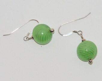 Glass hollow ball earrings