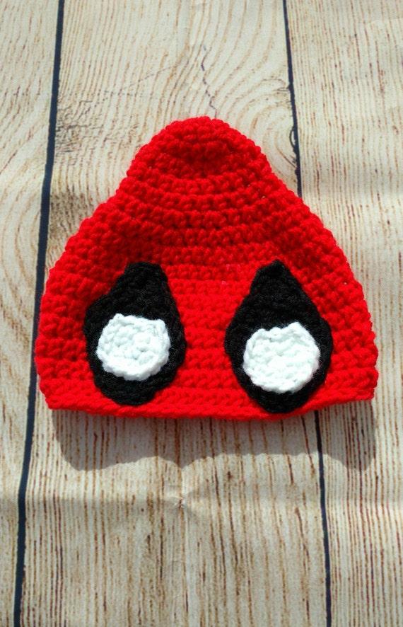 Deadpool Knitting Pattern : CROCHET PATTERN-Sassy Deadpool-Deadpool Hat-Deadpool Inspired-Superhero Croch...