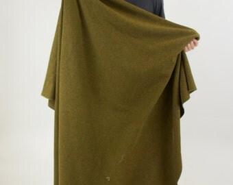 US Army Large Vintage Military Wool Blanket by American Woolen Co.