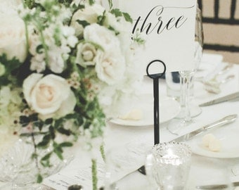 Wedding Table Numbers, Elegant Table Numbers, Wedding Reception Table Signage, Wedding Decoration, Customizable Colors - Classic Romance