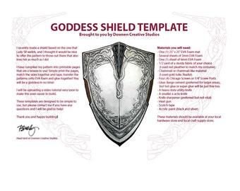 Lady Sif Goddess Shield Template