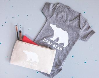 Mummy And Baby Bear Makeup And Babygrow Hospital Set - New Baby Gift - Baby Shower Gift - New Mum Gift - Gift for Mum - Newborn Baby Grow
