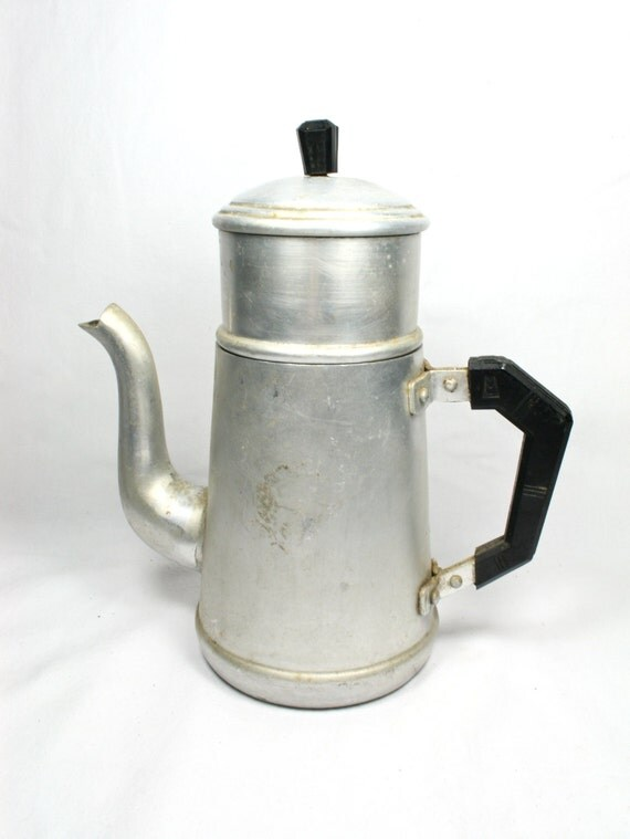Coffee Maker Made In France : French Vintage Aluminum Coffee Pot Drip Brew Coffee Maker