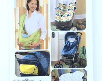 Simplicity 3712, Baby Accessories Pattern, Sling, Stroller or Car Seat Bunting, Changing Pad Pattern, Uncut