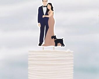 ADD ON Portrait Wedding Cake Topper, Personalized Cake topper, Printable Cake Topper