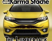 """48"""" Car Mustache Vinyl Decal Sticker - Style; Lumberjack - Color; Black  -  Karma Stache: Your #1 Source for Car Mustaches!"""