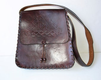 retro leather bag